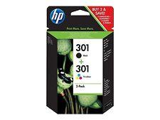 HP 301 301 2er Pack Deskjet 1000 1050 1055 2050 a 3000 3050a j3m81ae NUOVO