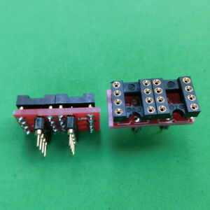 10pc-DIP-to-DIP-Dual-to-Mono-Opamp-PCB-Adapter-OPA627BP-AD797AN-OPA604AP-AD847AQ