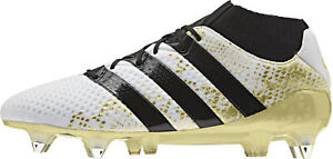 Adidas Homme Chaussures de football Ace 16.1 Primeknit SG Terrain Souple Blanc Soccer Shoes