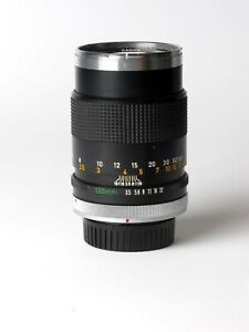 Objectif Canon FD 135mm F/3.5 chrome nose