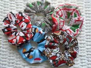 CHRISTMAS-HAIR-SCRUNCHIES-SCRUNCHY-TIE-BAND-UNICORN-XMAS-STOCKING-FILLER-TIES