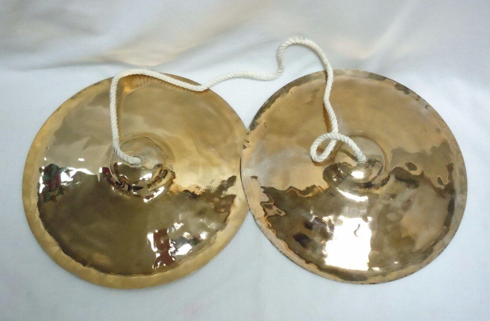 Korean Buddhist Brass Cymbals - Barra, Great Sound, Made In South Korea