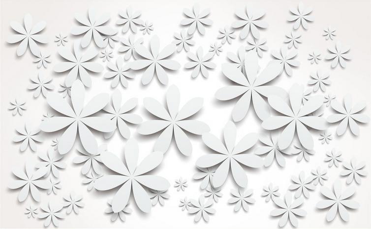 Papel Pintado Mural De Vellón Patrón De 2 Pétalos Blanca 2 De Paisaje Fondo Pantalla 620d16