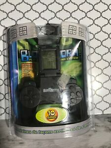 NEW-Block-Storm-Handheld-Electronic-System-Flip-Screen-10-Arcade-Style-Games