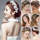 Princess Wedding Bridal Prom Party Pearl Crystal Flower Headwear Headband Tiara