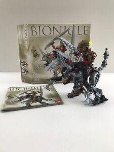 Lego-Bionicle-8811-Toa-Lhikan-amp-KikanTalo-Box-amp-Instructions-Missing-one-Weapon