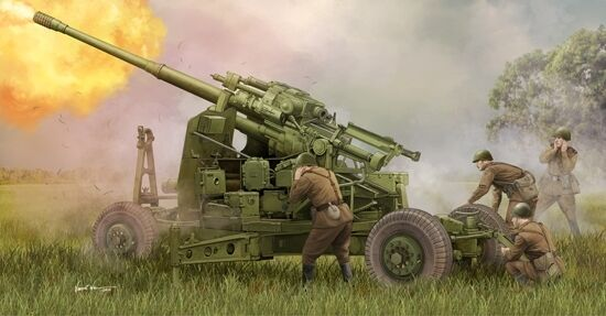 Soviet 100  mm Air Defence Gun KS-19M2 Plastic Kit 1 35 Model 2349 TRUMPETER  les clients d'abord la réputation d'abord