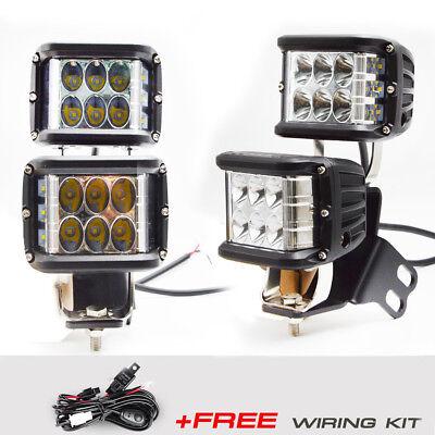 Fit POLARIS RZR 1000 900 800 Side Shot 45W LED Light Pod Below Roof Pillar Kit