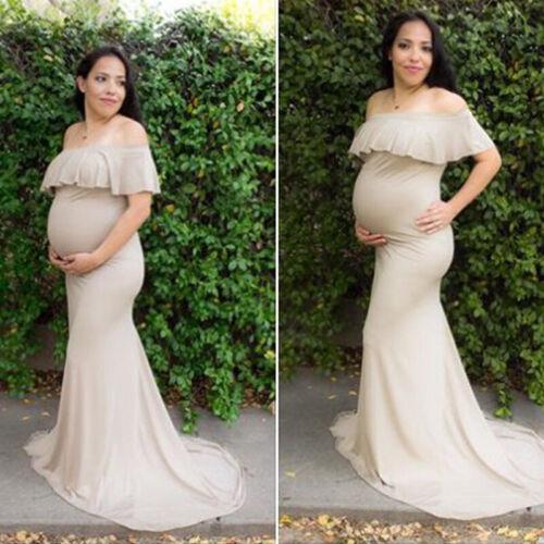 Pregnant Maternity Wear Women Long Dress Photography Props Summer Photo Shoot