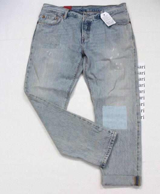 f625eb0dc8e Levi's 501 CT Women's Patch Tapered Rolled Hem W29 L32 Denim Jeans Light  Blue
