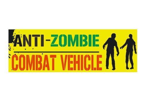 Zombie Bumper Sticker or Helmet Sticker D328