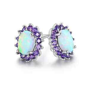 0-25-CTTW-Fire-Opal-and-Amethyst-Stud-Earrings-In-18K-White-Gold