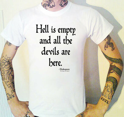 Hell Is Leer And All The Devils Are Hier T-Shirt Tempest Spruch