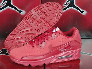 NEW Nike Air Max 90 EM NikeiD ID Sz 7.5 WOMENS All Red October Yeezy ... c1f5057abc