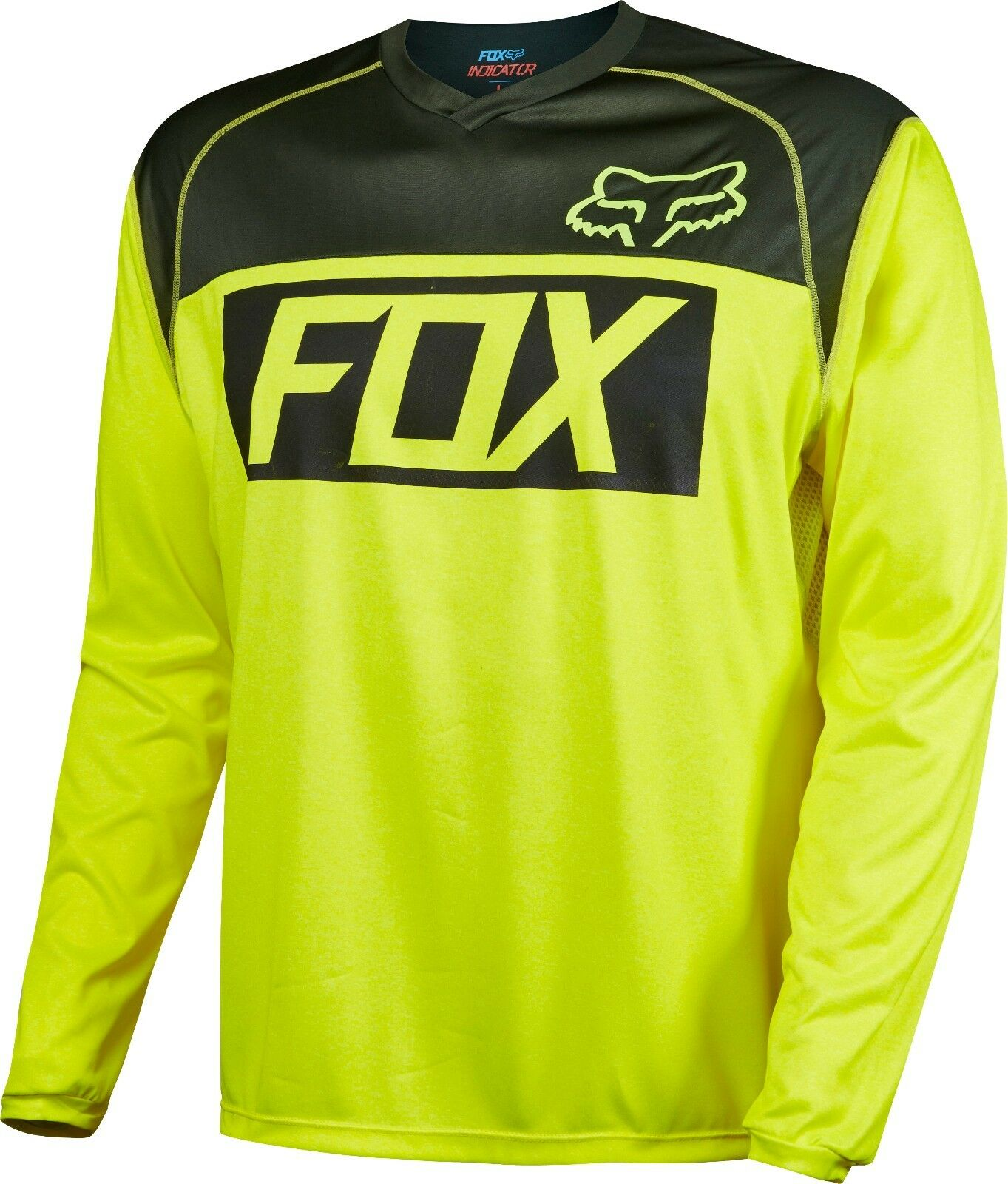 Fox Racing Indicator Long Sleeve LS Jersey Flo giallo