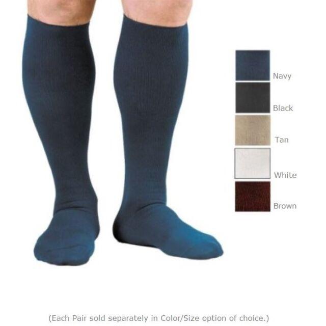1e9a57b98e Activa Men's Compression Dress Socks 20-30mmHg - Tan White Navy Black or  Brown