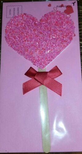 Details about  /♡ PAPYRUS VALENTINE/'S DAY SPRINKLED HEART ON A STICK  LOLLYPOP LOVE CANDY ♡