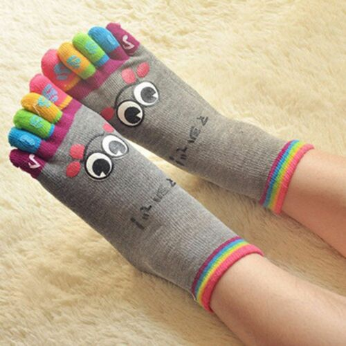 Women Fashion Casual Five Toes Crew Athletic Finger Micro Toe Socks Cotton Socks