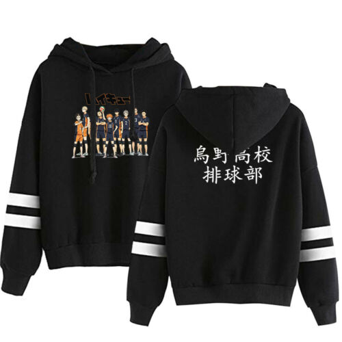 KARASUNO Unisex Hoodie Pullover Sweatshirt Sport-Kapuzenpullis Anime Haikyuu!