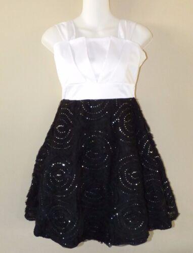 8 Black /& White Soutache Holiday Dress NWT $78 RARE EDITIONS® Girl/'s 7