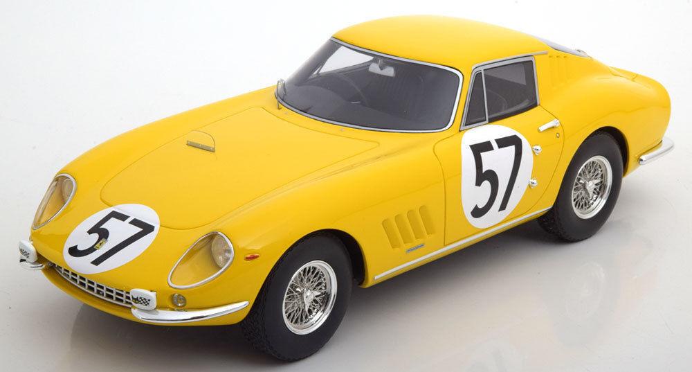 CMR FERRARI 275 GTB 24 H Le Mans 1966 Noblet Dubois  57 jaune 1 18 RARE à TROUVER