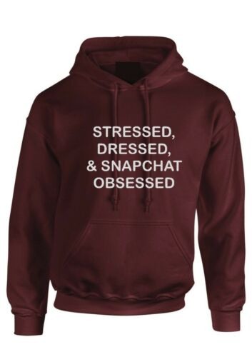 Stress Dressed /& Snapchat Obsessed Hoodie Tumblr Fashion Womens kids hoody