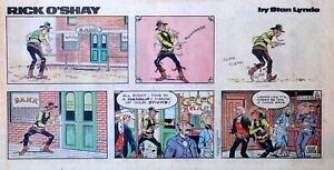 Rick-O-039-Shay-by-Stan-Lynde-full-color-Sunday-comic-page-March-28-1976