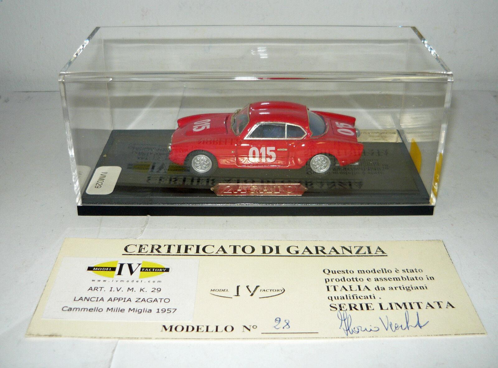 IV Model IVM029, Lancia Appia Zagato, Cammello MM´57,Handarbeitsm. 1 1 1 43, NEU&OVP 6e5ea7