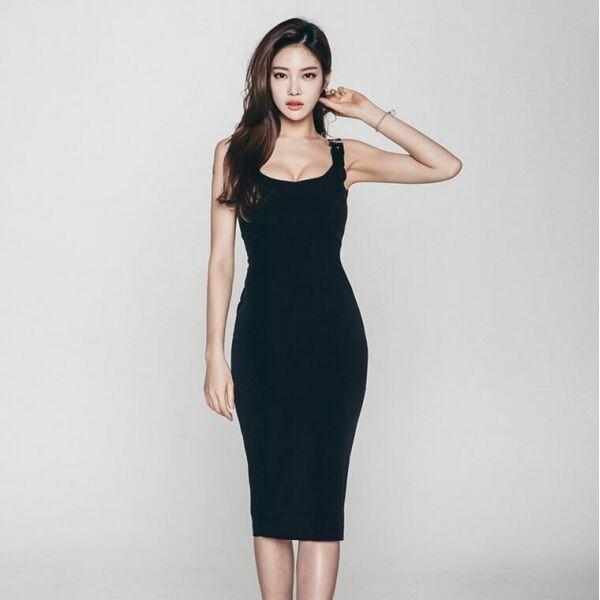 Elegante evento raffinato abito donna tubino silm evento Elegante sera nero  morbido 3424 b05aa7 f5e6b1af1c5