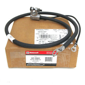 1995-97 Ford F250 F350 7.3L Diesel Right Negative Battery Cable OEM F5TZ-14301-A