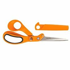 Fiskars 8 In. Amplify Razor Edge Serrated Thick and Heavy Fabric Shears Scissors