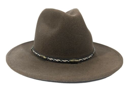 Serratelli 100% Wool Felt Western Cowboy Hat Green