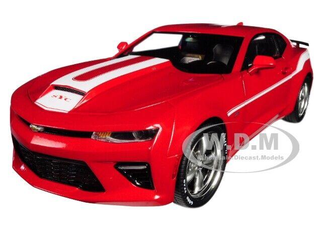 2017 Chevrolet Camaro Coupe Yenko rojo limitado 1002 piezas 1 18 Diecast Autoworld AW246