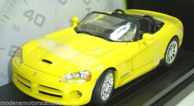 2003 DODGE VIPER SRT-10 YELLOW 2 FAST 2 FURIOUS 1 18 ERTL AMERICAN MUSCLE