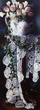 "Arleta Pech ""Rhythms in Lace"" Flower Vase Art Print  Image Size 12"" x 31.5"""