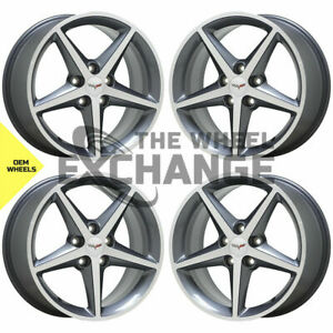 18x8.5 19x10 Corvette C6 wheels rims Factory OEM NEW GM set 4 5484 5489