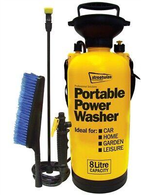 Streetwize Portable 8 Litre Car Home Garden Hand Portable Power Jet Wash Washer
