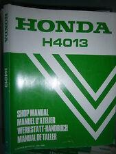 Honda H4013 Tracteur à gazon : MANUEL D'ATELIER SHOP