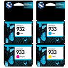 HP Genuine 932 (B) + 933 (C, M, Y) Set of 4 Ink Cartridge