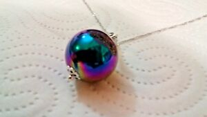 Pendant-Purple-Tiitanium-Druzy-Agate-Ball-on-a-White-Gold-Filled-Chain