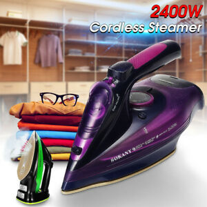Electric-Cordless-Garment-Steam-Iron-Clothes-Ironing-Laundry-Handheld-2400W