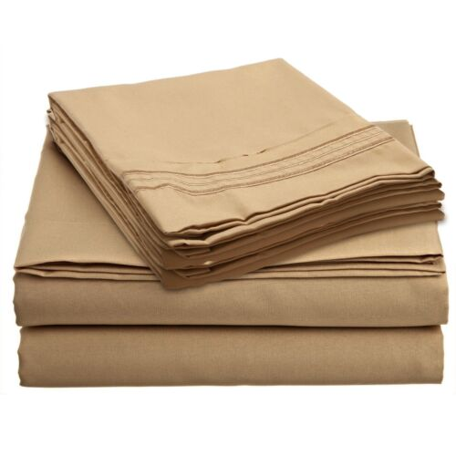 19 COLORS AVAILABLE IN ALL SIZES 1700 SERIES DEEP POCKET 4 PIECE BED SHEET SET