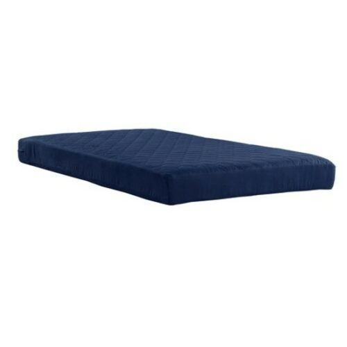 """Bed Mattress Twin Size 6/"""" Quilted Memory Foam Bedroom Kids Bedding Navy Blue"""