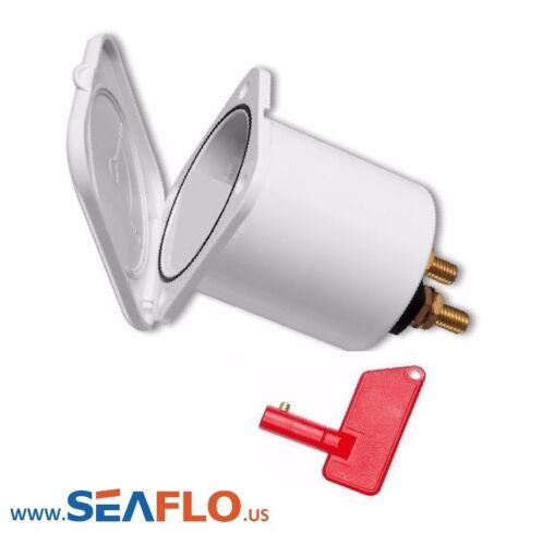 SEAFLO Marine Boat Battery Power Disconnect Switch w KEY