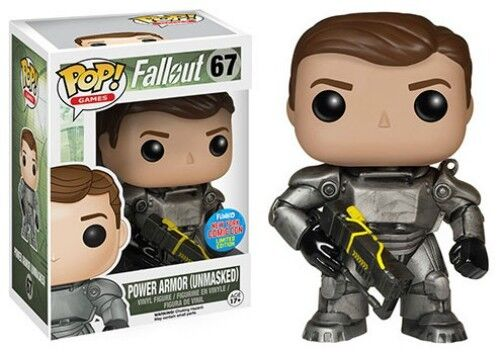 FALLOUT POWER ARMOR (UNMASKED) 67 LIMITED EDITION FUNKO POP  VINYL EXCLUSIVE NEW