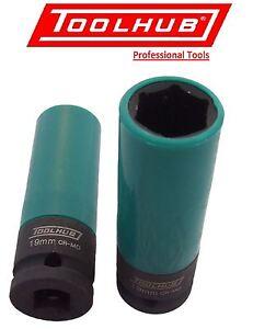 Tool-Hub-1005-Alloy-Wheel-Nut-Impact-Socket-19mm-Thin-Wall-1-2-034-Sq-Drive
