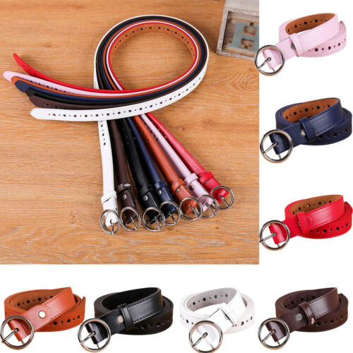 fashion New Women leather Girdle Buckle Belt Men Pure Color Waistband Belt