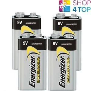 4-ENERGIZER-ALKALINE-6LR61-BATTERIEN-9V-INDUSTRIAL-E-BLOCK-6AM6-MN1604-EN22-NEU