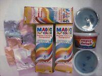 Magic Color Plaster Casting Compound Lot Of 3 & 3 Super Dough