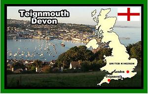 Teignmouth-Devon-RECUERDO-ORIGINAL-Iman-de-NEVERA-Regalo-NUEVO